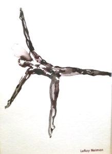 Leroy Neiman Dancer drawing